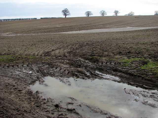 Eviten los campos de cultivo mojados ya que pueden afectar la estructura del suelo y provocar efectos adversos.