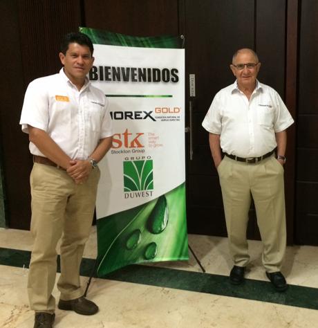 Sr. Peter Tirosh, fundador de Stockton Group y el Sr. Randolfo Funez, Gerente de País, Grupo Duwest