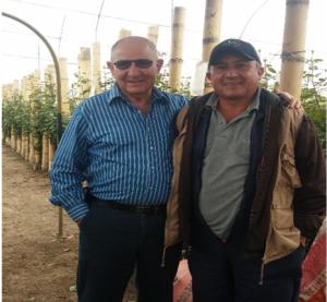 Sr. Peter Tirosh, fundador de Stockton Group con el ingeniero Ramiro García.